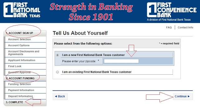 How to Create First Convenience Online Banking Account