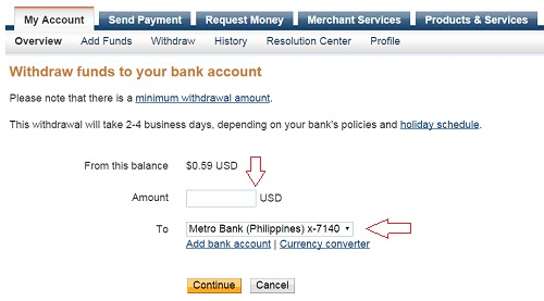 how to know you account total money