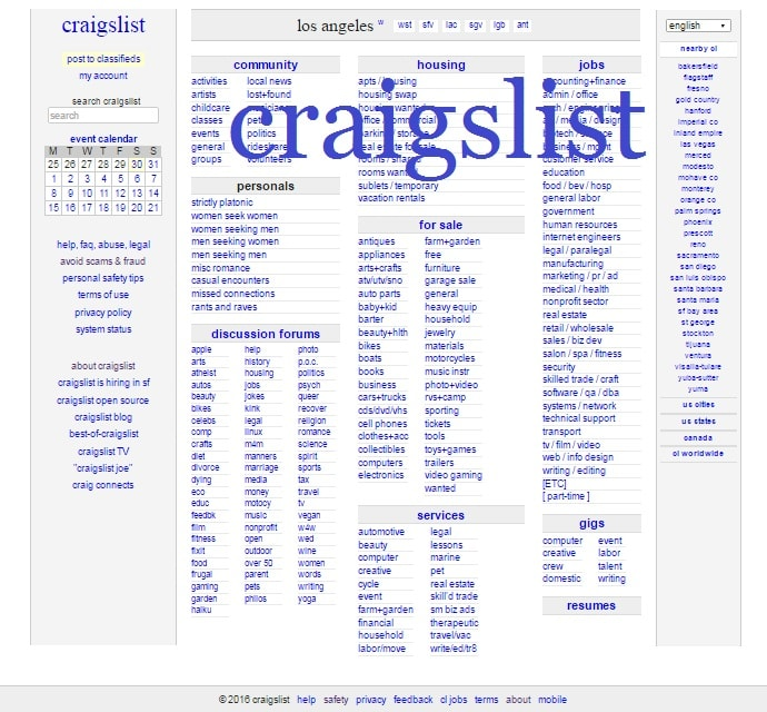 Craigslist Los Angeles For Sale